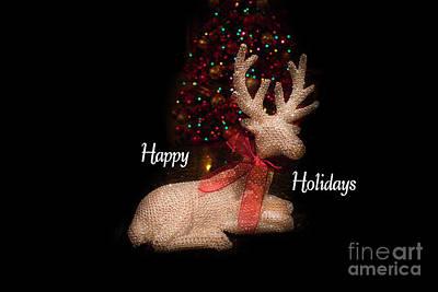 Photograph - Christmas Card, Happy Holidays 2018, 3 by Al Bourassa