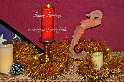 Photograph - Christmas Card, Happy Holidays 2018, 4 by Al Bourassa