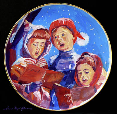 Painting - Christmas Carolers  by David Lloyd Glover