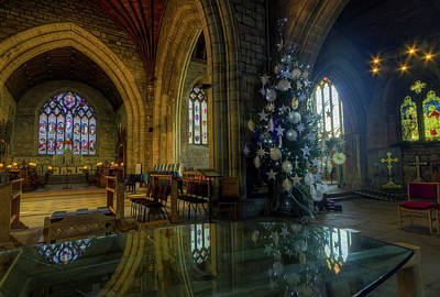 Photograph - Christmas Cathedral Reflections by Ian Mitchell