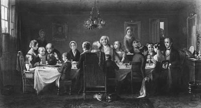 Christmas Dinner Art Print by Hulton Archive