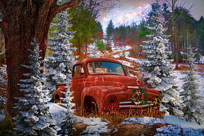 Photograph - Christmas Eve On A Country Road In Hdr  by Debra and Dave Vanderlaan
