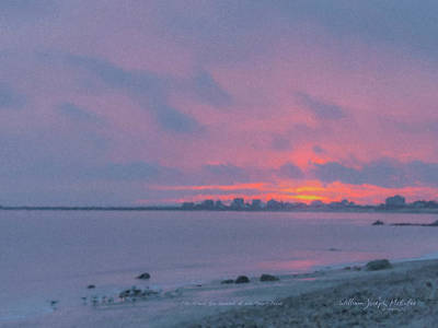 Painting - Christmas Eve Sunset Westport Point by Bill McEntee