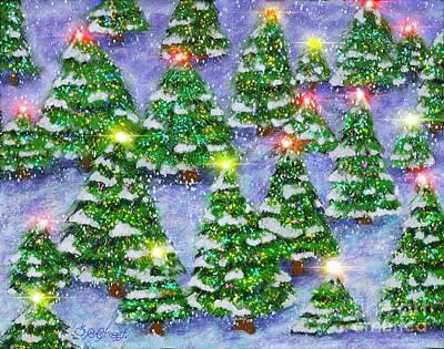 Digital Art - Christmas Forest by Caroline Street