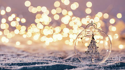 Photograph - Christmas Glass Ball With Tree In It On Winter Background. by Michal Bednarek