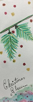 Bookmarks Wall Art - Painting - Christmas Glow by CR Greaves