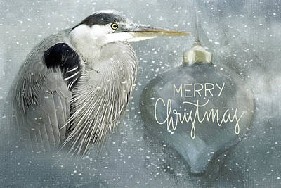 Photograph - Christmas Heron  by HH Photography of Florida