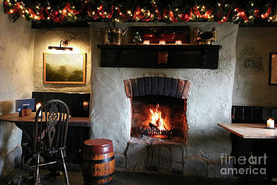 Photograph - Christmas In A Cornish Inn by Terri Waters