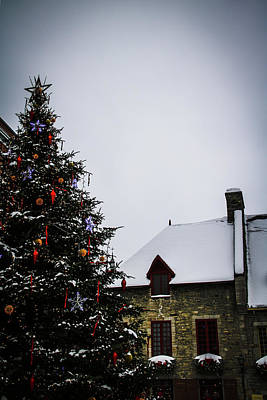Photograph - Christmas In Old Quebec by Perggals - Stacey Turner