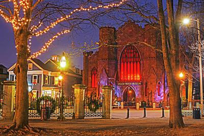 Photograph - Christmas In Salem Ma Washington Park Salem Witch Museum by Toby McGuire