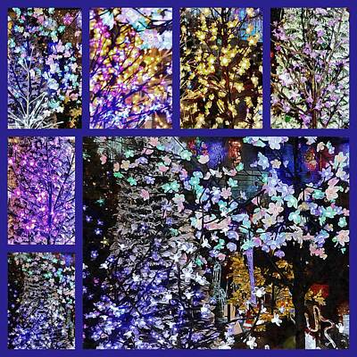 Photograph - Christmas Lights Collage by Dorothy Berry-Lound