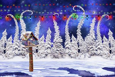 Fantasy Digital Art - Christmas lights by Mihaela Pater