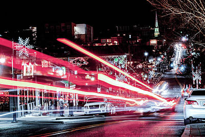 Photograph - Christmas Lights On Dickson Street - Fayetteville Arkansas by Gregory Ballos