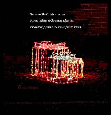Wall Art - Photograph - Christmas Lights Remembering Jesus Is The Reason For The Season by Carolyn Hebert