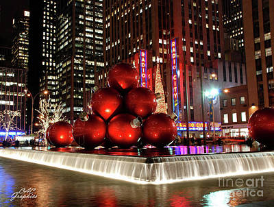Photograph - Christmas Ornaments Nyc by CAC Graphics