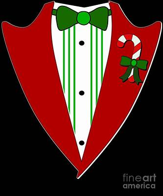 Digital Art - Christmas Party Tuxedo by Flippin Sweet Gear