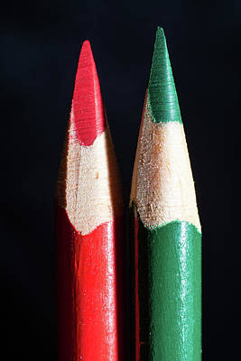 Photograph - Christmas Pencils by Jennifer Wick