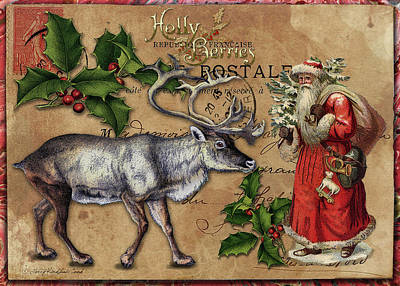 Digital Art - Christmas Postcard by Terry Kirkland Cook