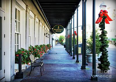 Photograph - Christmas Sidewalk In Savannah by Carol Groenen