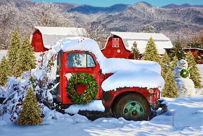 Photograph - Christmas Snowfall In The Mountains In Hdr Detail by Debra and Dave Vanderlaan