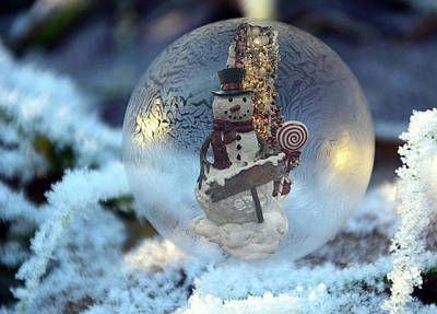Photograph - Christmas Snowman by Steph Gabler