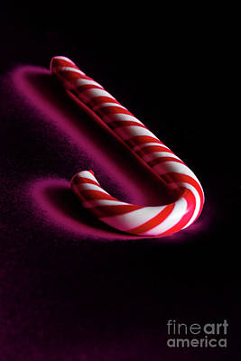 Photograph - Christmas Stick Of  Hard Candy  by Marina Usmanskaya