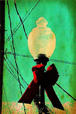 Edward Hopper - Christmas Street Lamp 6 by Cathy Lindsey