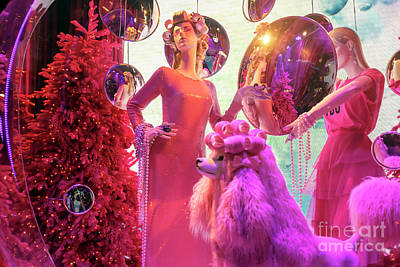 Photograph - Christmas Style At Saks Fifth Avenue New York City by John Rizzuto