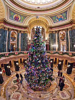 Photograph - Christmas Tree -capitol - Madison - Wisconsin 2 by Steven Ralser