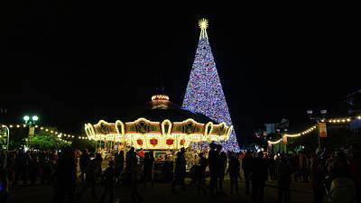 Photograph - Christmas Tree Carousel Delray Beach Florida by Lawrence S Richardson Jr