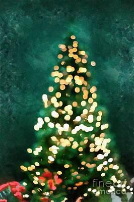 Digital Art - Christmas Tree Christmas Card by Edward Fielding