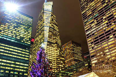 Photograph - Christmas Tree Colors At Bryant Park New York City by John Rizzuto