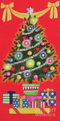 Painting - Christmas Tree  Detail by Lavinia Hamer
