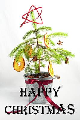 Photograph - Christmas Tree - Happy Christmas by Helen Northcott