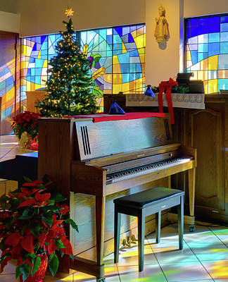 Photograph - Christmas Tree In Church by Rolf Bertram