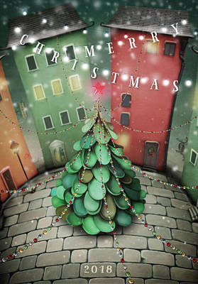 Digital Art - Christmas Tree by Kathryn McBride