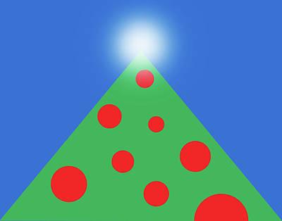 Digital Art - Christmas Tree by Peter Cutler