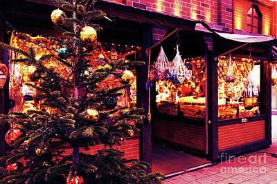 Photograph - Christmas Tree With Decoration  On The Christmas Market by Marina Usmanskaya