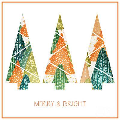 Wall Art - Mixed Media - Christmas Trio by Amanda Lakey