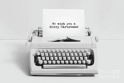 Photograph - Christmas Wishes Written On An Old Typewriter. by Michal Bednarek