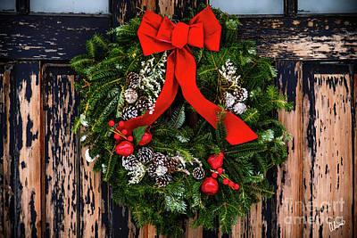 Photograph - Christmas Wreath by Alana Ranney