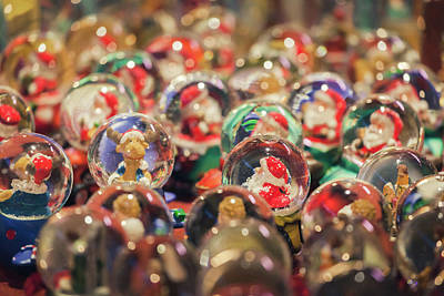 Farm House Style - Christmast globes in fair kiosk by Natalia Macheda