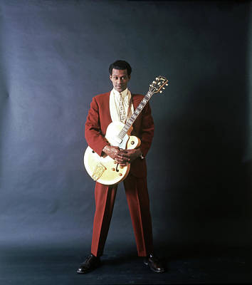 Photograph - Chuck Berry Portrait Session by Michael Ochs Archives