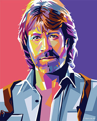 Train Paintings Rights Managed Images - Chuck Norris Royalty-Free Image by Stars on Art