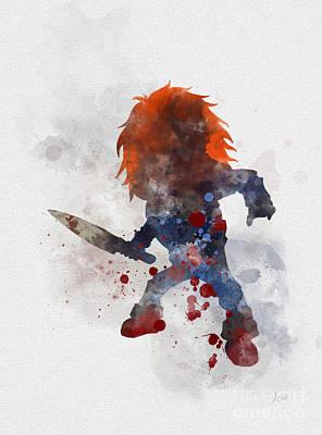 Child Mixed Media - Chucky by Rebecca Jenkins
