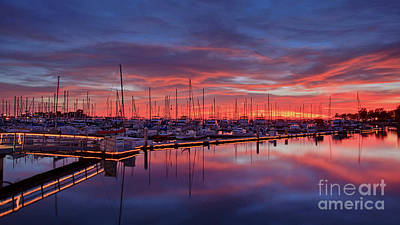 Photograph - Chula Vista J Street Marina Sunset by Sam Antonio Photography