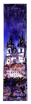 Painting - Church At Sunset In Stare Mesto Downtown Neighborhood In The M by Ryan Fox