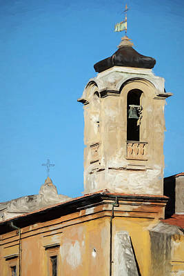Photograph - Church Bell Tower In Rome by Tony Grider
