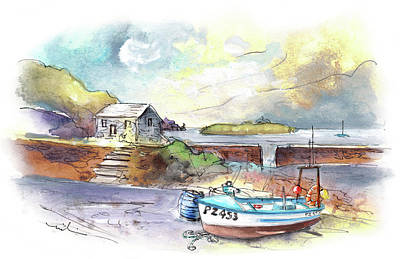 Painting - Church Cove On Lizard Peninsula 01 by Miki De Goodaboom