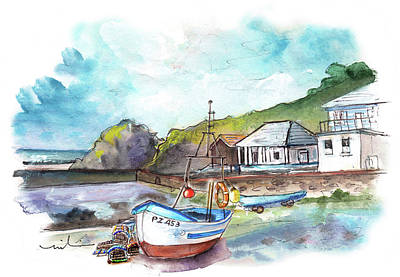 Painting - Church Cove On Lizard Peninsula 02 by Miki De Goodaboom